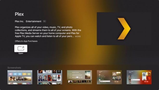 Nuova Apple TV arriva Plex