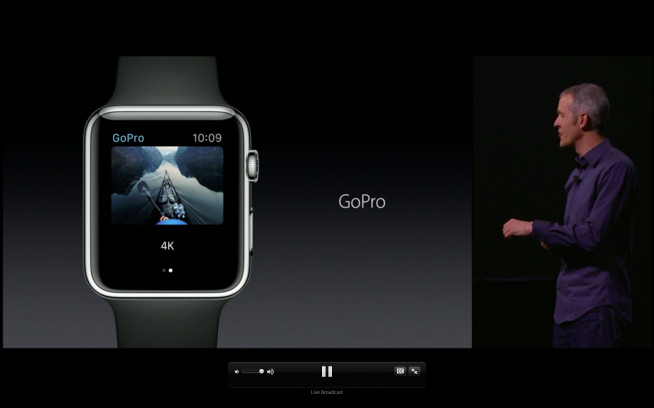 Le GoPro saranno controllabili da un app per Apple Watch.