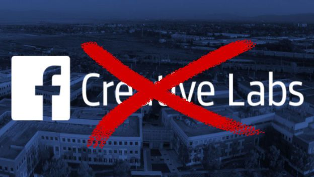 Facebook chiude creative labs